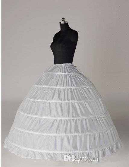 2017 Black White wedding accessories Ball Gown underskirt 6 hoops plus size bridal gowns Slip crinoline petticoats for wedding dress