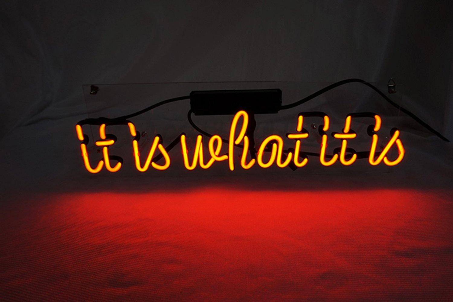 2019 it is what it is 17 7 x 5 9 real neon light sign cool lamp
