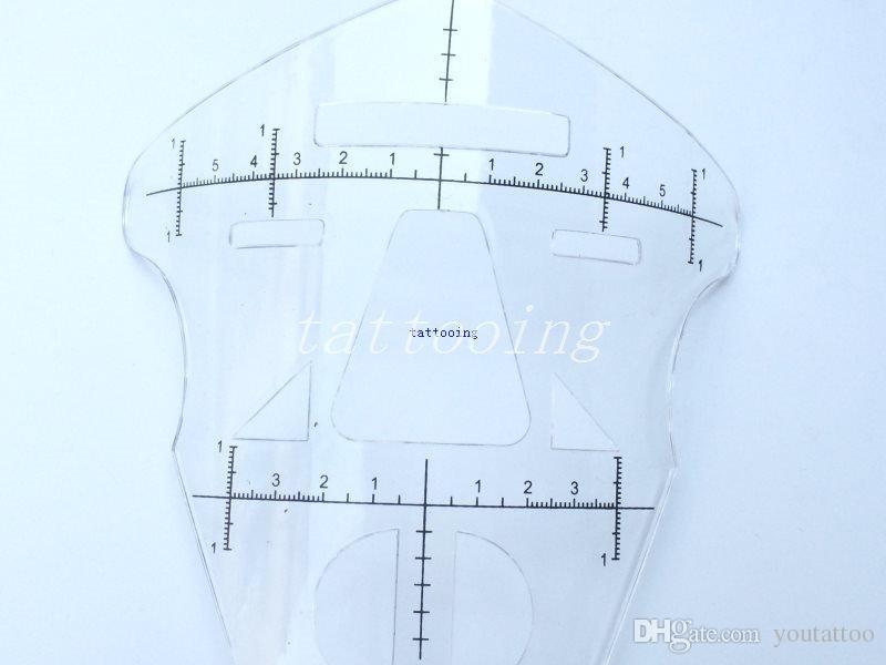 2 STÜCKE Neue Augenbraue Lineal Praxis für Tattoo Starter Augenbrauen Schablone Vorlage Permanent Make-Up Maske Lineal Tattoo lieferungen