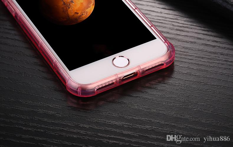 Cellphone Crystal Clear TPU Soft Shockproof Transparent Case Back Cover for Iphone 7 Plus Iphone 6 6S Plus With Card Slot