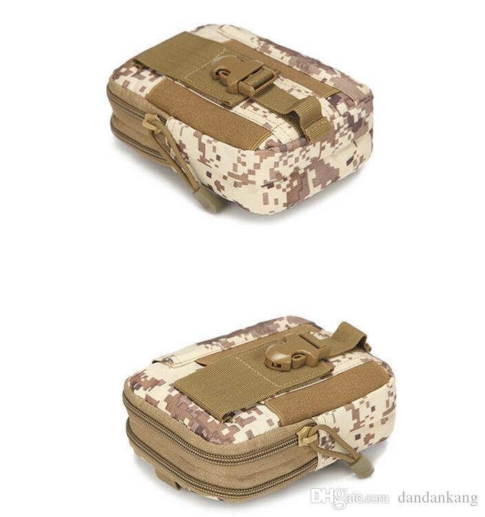 Tactical Military Molle Hip Wallet Pocket Men Outdoor Sport Casual Waist Belt Phone Case Holster Army Camo Camouflage Bag