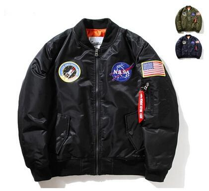 Cool Nasa Mens Ma1 Bomber Jacket Insignia Usaf Kanye West Hip Hop ...