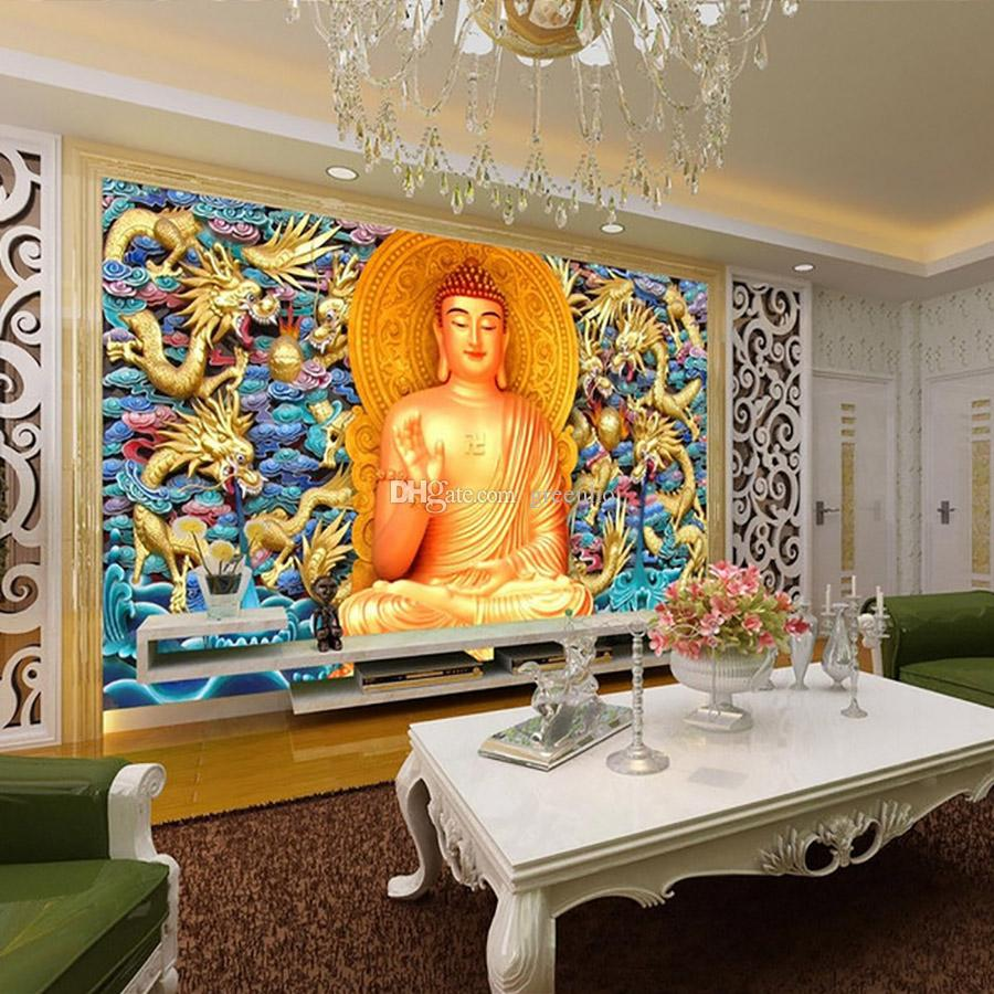 golden buddha wallpaper gold embossed dragon wall mural 3d golden buddha wallpaper gold embossed dragon wall mural 3d wallpaper bedroom living room ceiling hotel restaurant buddhism art room decor wallpaper for hd