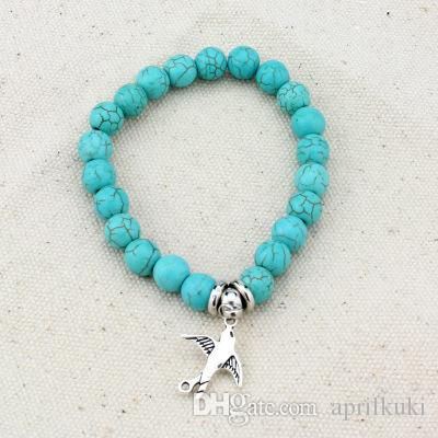 summer beach jewelry 2019 newest buddha beads natural stones bracelet bohemian style turquoise jewelry gift for women girl