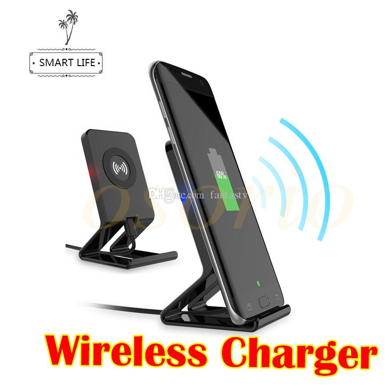 New Stand Style QI Wireless Charger For Samsung S8 S8 Plus S7 S7 Edge S6 Note 8 For iPhone 8 iPhone X 5V 1A Output Phone Charger