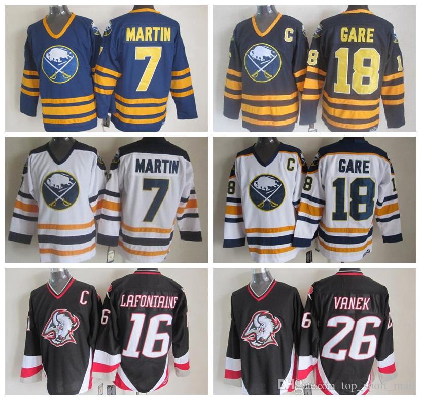 2019 Cheap 7 Rick Martin Jersey Men Buffalo Sabres Hockey Jerseys Stitched  16 Pat LaFontaine 18 Danny Gare 26 Thoma Vanek From Vip sport 4fc689e2565