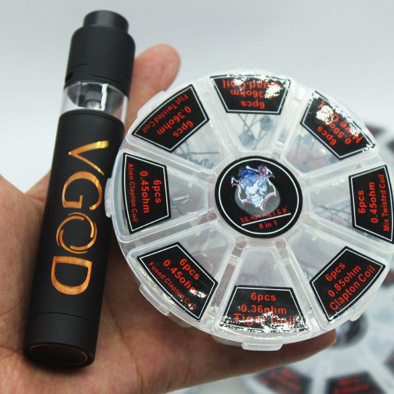 Großhandel 6 Arten E Zigarette 8 In 1 Heizung Draht Prebuilt Spulen ...