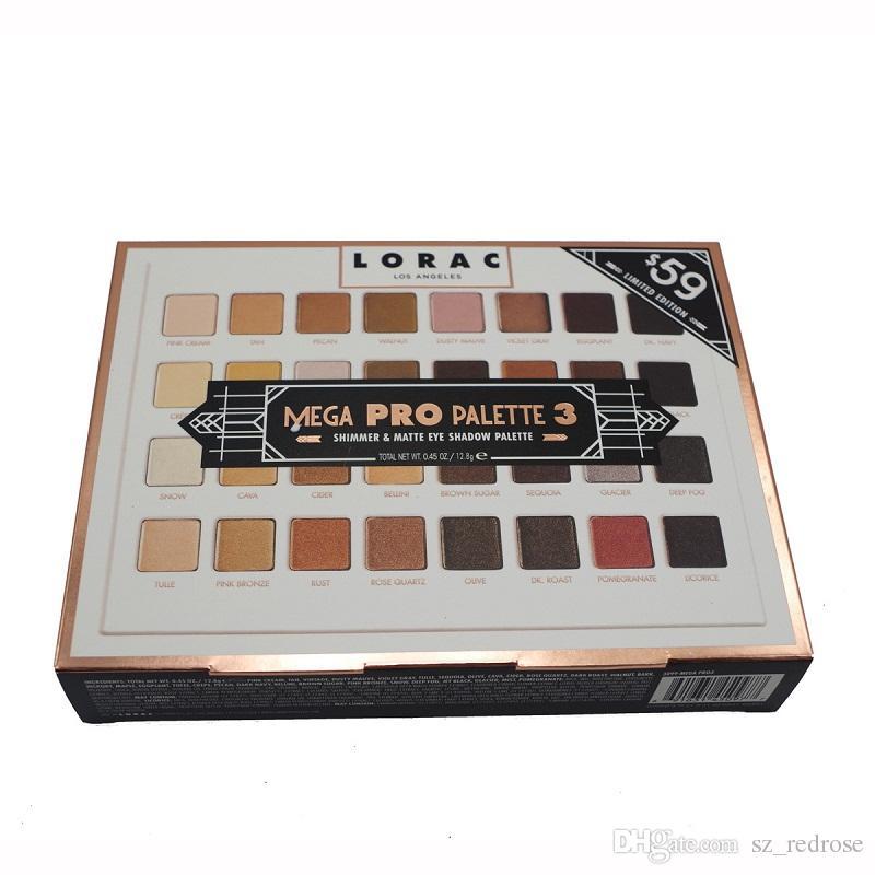 Édition Limitée Cosmétiques Lorac Mega Pro 3 Palette Ombre À Paupières 32 Couleurs Palette Shimmer Matte Marques Palette Ombre À Paupières Maquillage