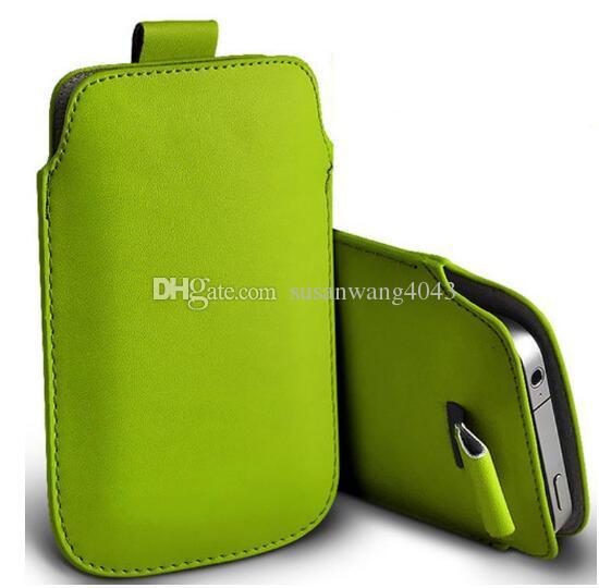 Mode universel téléphone portable sacs PU portefeuille en cuir pochette pochette à languette pour iphone 7 6 6 s plus note 5 s4 s6 téléphone sac + cordon GSZ369