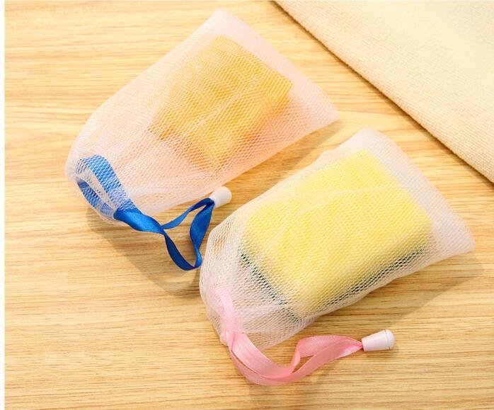 Sacchetto di schiuma a bolle di schiuma la pulizia del corpo ecologico con cintura Bagno Doccia Sapone fatto a mano Detergente necessario rete schiumogena