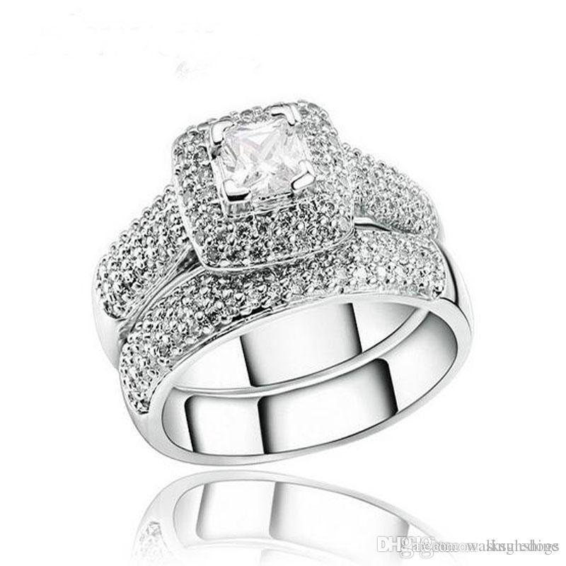 1b3964a5553 Bague En Diamant De Mariage Bagues De Mariée Bijoux Accessoires Pour Couple  Petite Amie Cadeau D anniversaire De Qualité Supérieure