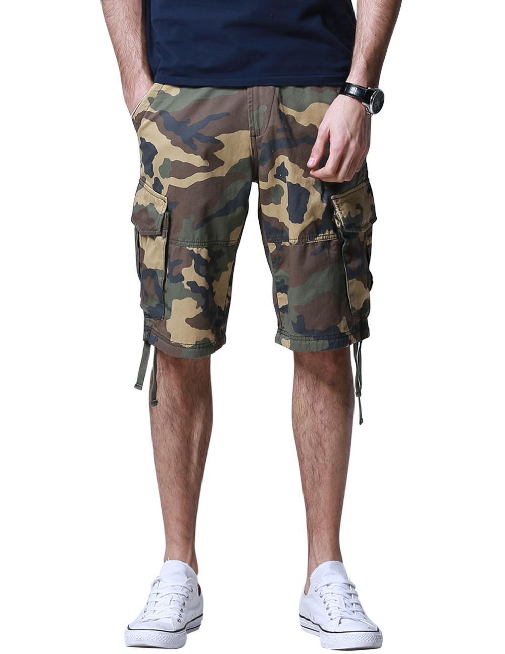 d67a7498c6e 2019 Wholesale Match Men S Camouflage Cargo Shorts Bermudas Hombre Casual Shorts  Plus Size 38 40 42 44 S3596M From Odeletta