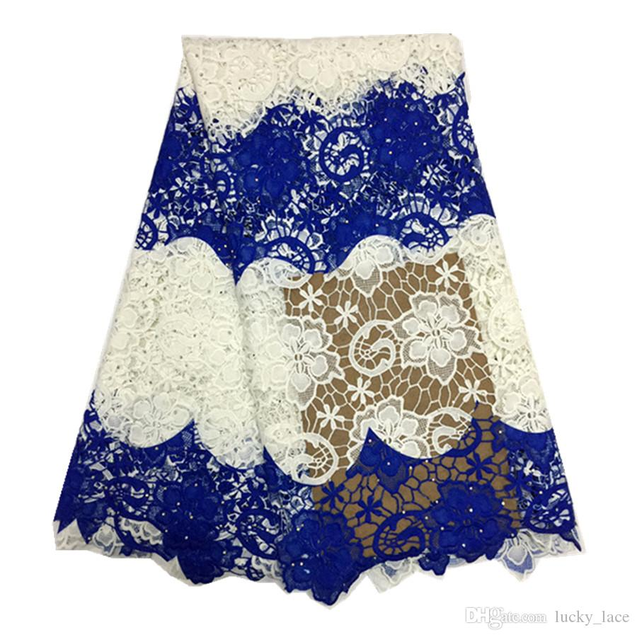 High quality Fashion design Milk Silk Lace Fabric African Guipure Cord Print Lace Fabric guipure lace dress fabric