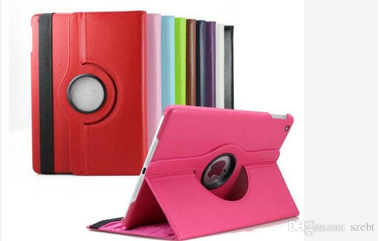 360 Degree Rotation smart Stand PU Leather Case Cover For Apple ipad 4 5 6 air air 2 ipad pro 9.7' mini Retina Samsung galaxy Tab T280 T350