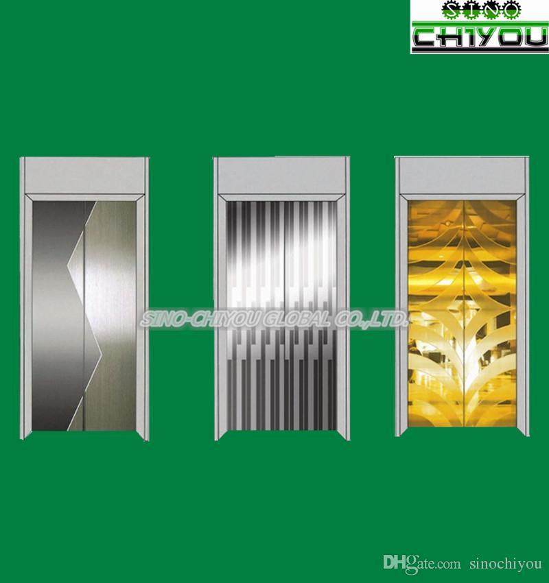 Lift & elevator parts complete set of landing doors/cabin door with  hanger,frame,sill etc/center open/side open