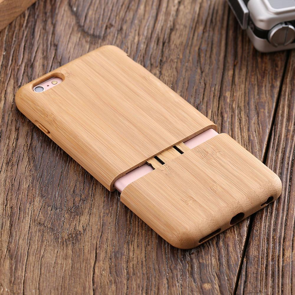 best service d1e53 4d3c2 Kisscase Real Wood Case For Iphone 7 6 6s Plus Natural Hard Shell Cover  Cases For Iphone 6s 7 Plus Luxury Back Phone Capa Fundas