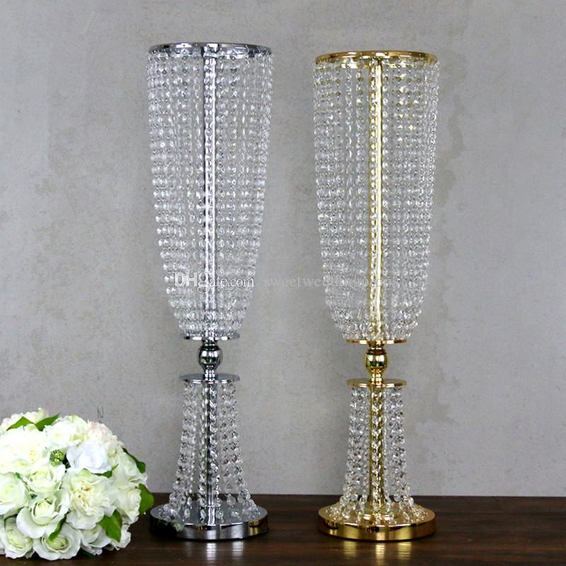tall flower vases for weddings wholesale beautiful metal flower vase gold paited 7915