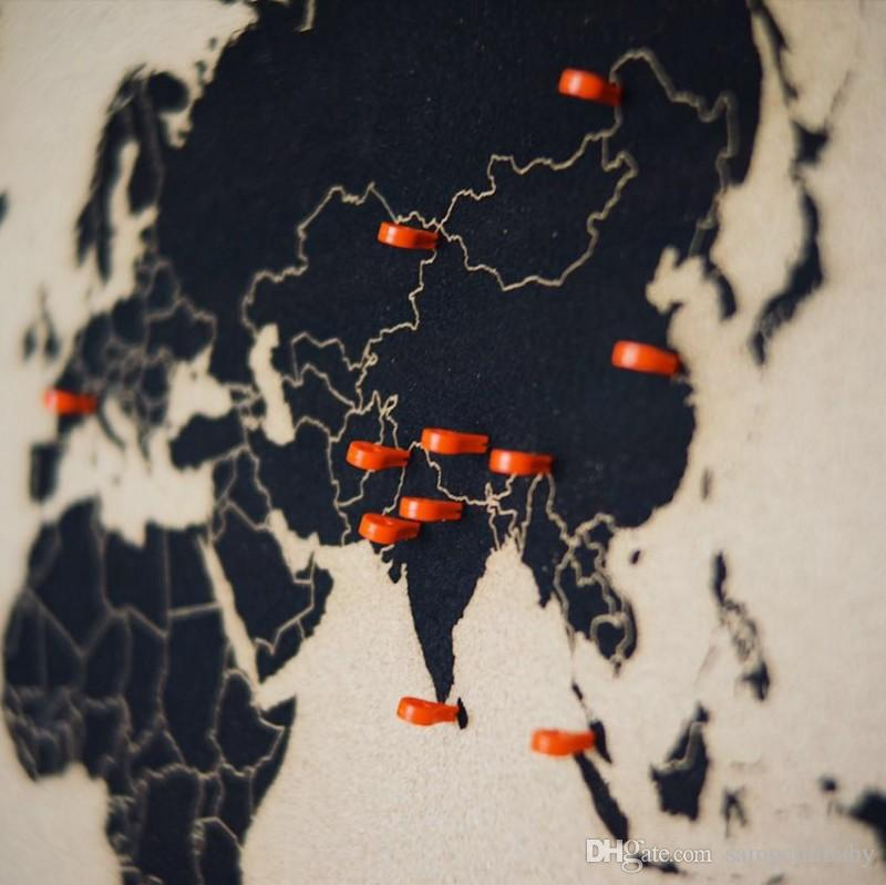 Carte marqueur punaise Punaises bureau de liaison Supplies Pin Cork mur clous photo mur Goujons / set