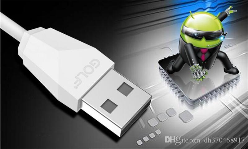 Golf câble de câble de synchronisation de données de câble USB micro chargeant rapidement pour Samsung S6 S7 huawei avec la boîte au détail