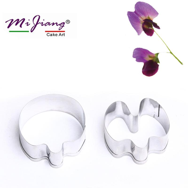 Mijiang Metal Pea Flower Petals Cake Cutters Moulds Set DIY Fondant Cake Decorating Tools Sugar Pastry Cookie Cutter Slicer Bakeware A364