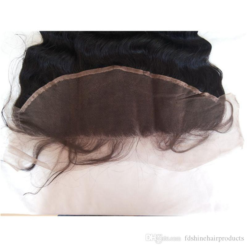 Loose Wave 13x4 Lace Frontal With Bleached Knots Cheap Virgin Ear to Ear Brazilian Hair Frontal FDSHINE HAIR