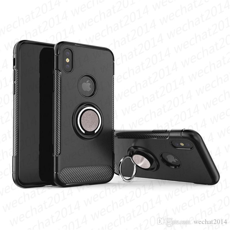 Copertura del supporto dell'anello Car Holder Magnetic antiurto Armour Case for iPhone 11 Pro Max X Xr XS Max 8 7 Plus Samsung Note 8 S8 S9 Inoltre S10 più