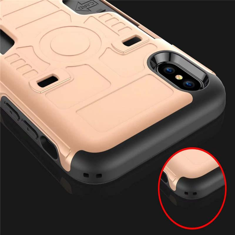 New Arrive Hybrid PC TPU 2 in 1 Slim Armor Case for iPhone X Rugged Shockproof Card Slot Back Case with Opp Package DHL free SCA325