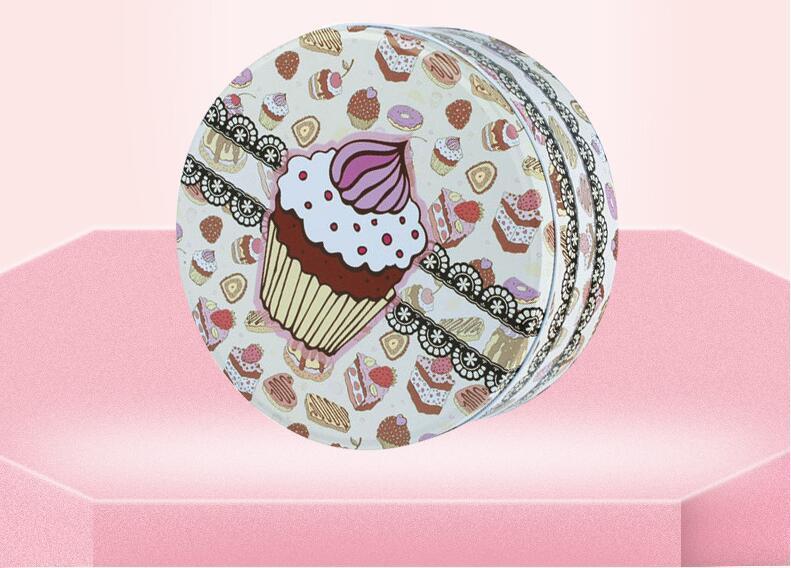 Grande boîte ronde boîtes à biscuits boîte 198 * 198 * 90mm beau modèle emballage alimentaire emballage cadeau boîte de thé pot de bonbons