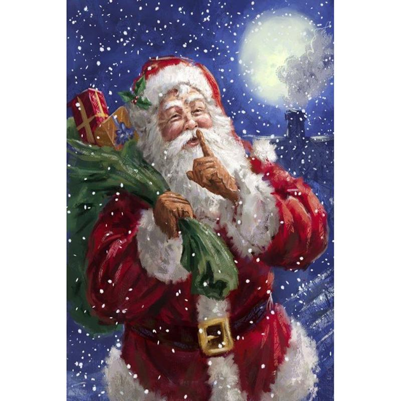 2018 Santa Claus Moon Diy Diamond Painting Embroidery 5d Beauty ...