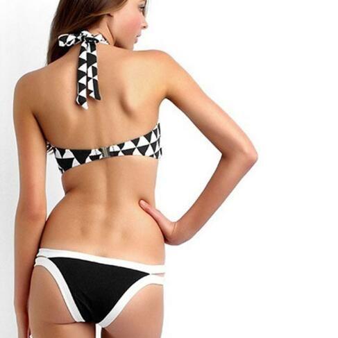 new arrivals fashion sale sexy Square Print BIKINI summer beach Bandage Triangle Swimsuit lady One Piece Swimsuit Padded Bikini