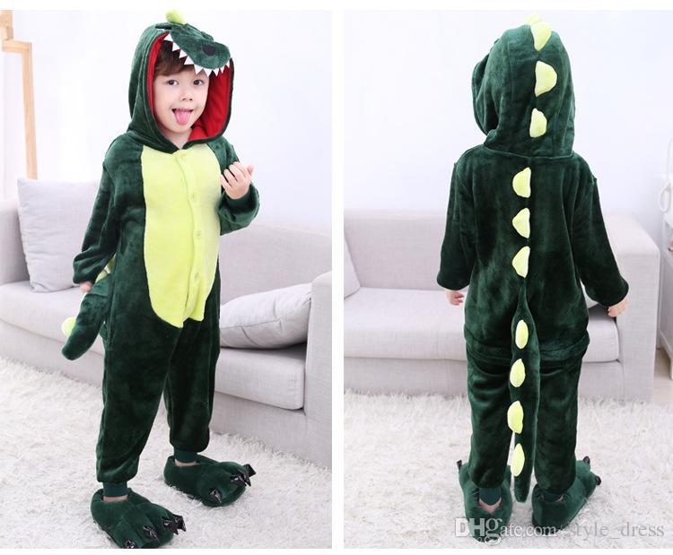 03788bfdd0338 Compre Unisex Boy Girl Kid Pijamas Kigurumi Cosplay Franela Animal Traje  Onesie Ropa De Dormir Regalo Dinosaurio Verde A  18.1 Del Style dress