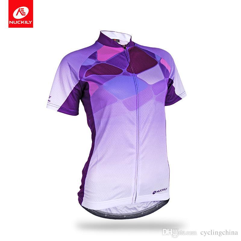 c1a2a95db NUCKILY Summer Women s Purple Sportswear Custom Designed Cycling ...