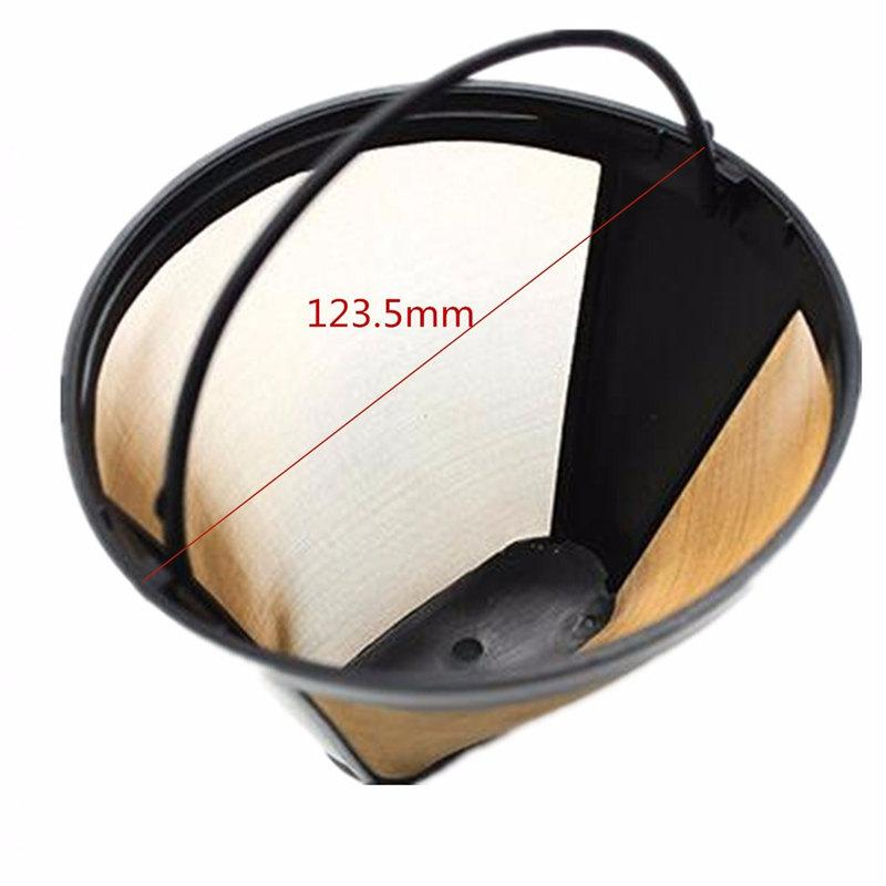 Best Price Reusable Brown Coffee Machine Stainless Steel Mesh Conical Solid-Liquid Separation Coffee Filter Home Cafe Tool