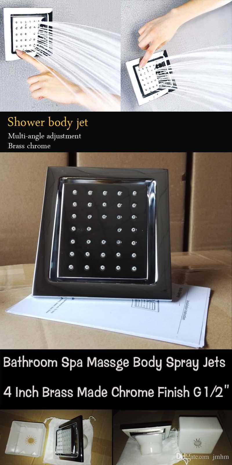 اكسسوارات الحمام الأمطار LED دش رؤساء هيدرو LED الطاقة ضوء السقف المطر تدليك الجسم جيت رذاذ دش مجموعة