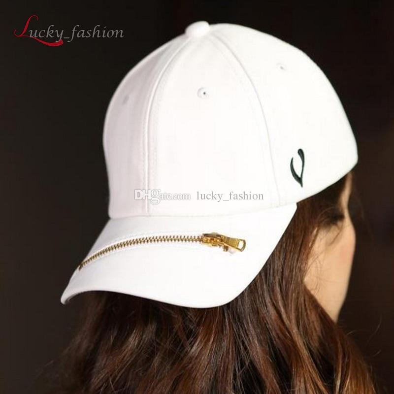 77a0cf3d33b PU Leather Hat Zipper Baseball Cap Snap Back Hats Men Women Lovers Sports  Sun Visor Hat With Zipper Peaked Cap Hip Hop Snapbacks Snapback Cap Cool  Hats From ...