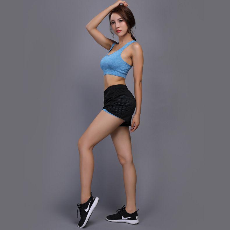 Großhandel Sommer Hot Yoga Sets Short + BH Outfits Fitness