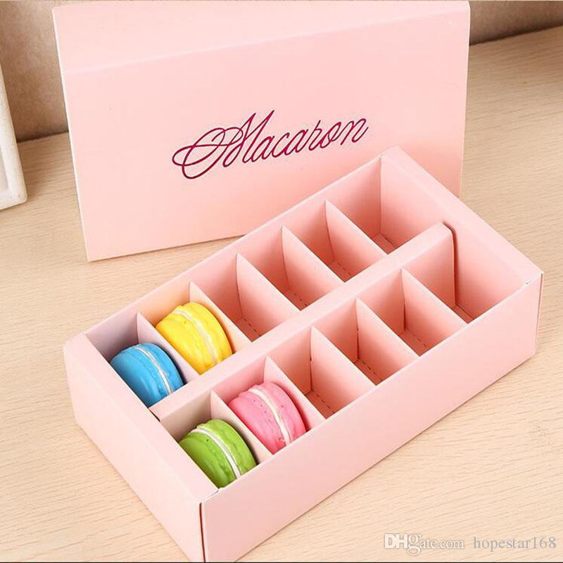 Macaron Box Holds 12 Cavity 20*11*5cm Food Packaging Gifts Paper Party Boxes For Bakery Cupcake Snack Candy Biscuit Muffin Box