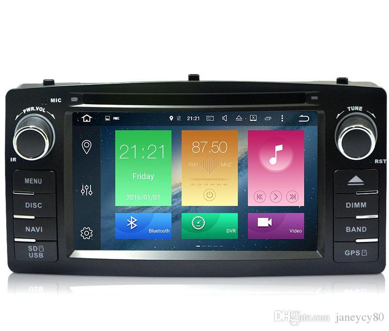 Atualizado 4G RAM 32G ROM Octa Núcleo Android 8.0 Car DVD Player para Toyota Corolla E120 BYD F3 2003-2006 com Rádio GPS Navi Wifi DVR