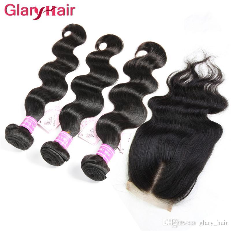 B2b Оптовая перуанский бразильский Виргинский человеческих волос пучки 3 шт. объемная волна с дешевыми Реми человеческих волос ткет 1 шт. 4x4 топ кружева закрытия