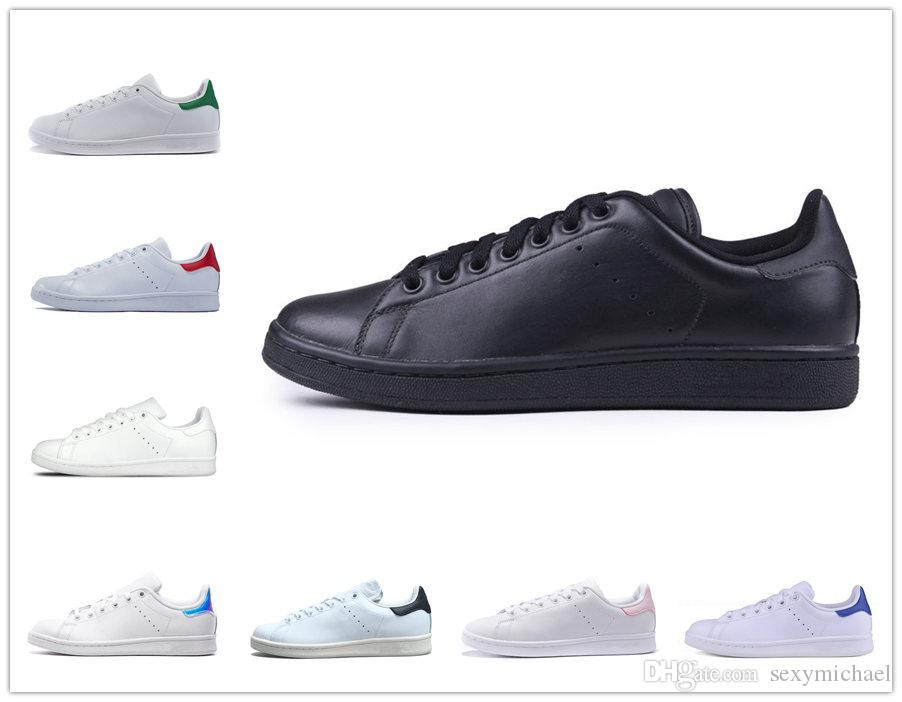 Classic Stan Smith Shoes Black Leather Green Back Blue Red Pink Laser All  White Men Women Casual Shoes Gold Shoes Mens Casual Shoes From Sexymichael 516486799a