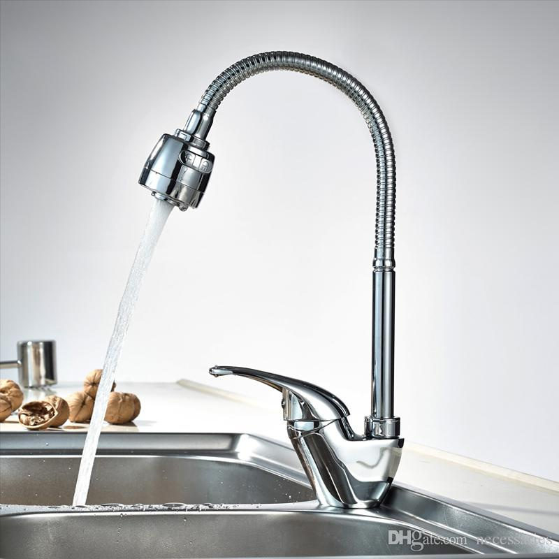 True Brass Kitchen Faucet Mixer Cold And Hot Spray Kitchen Tap