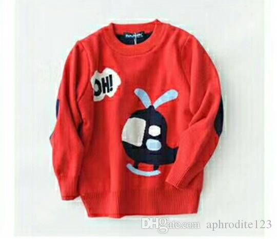 Lovely Aircraft Cartoon Sweater Both Male And Female Baby Can Wear