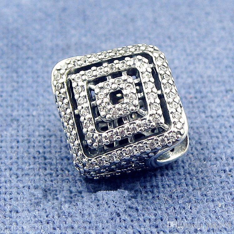 2017 Nuevo Otoño Líneas Geométricas Encantos 925 joyería de plata esterlina fit charm beads pulseras collar DIY para mujeres BE484