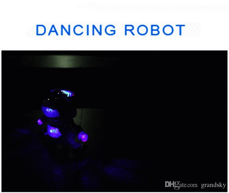 Children Gift Dancing Robert Electronic Toys With Music And Lightening Best Gift For Kids Model Toy Fast