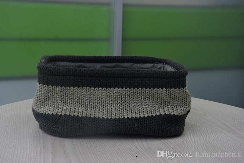 Home household woolen kntting basket handle desk bedroom makeup clothing underwear storage sundries organizers