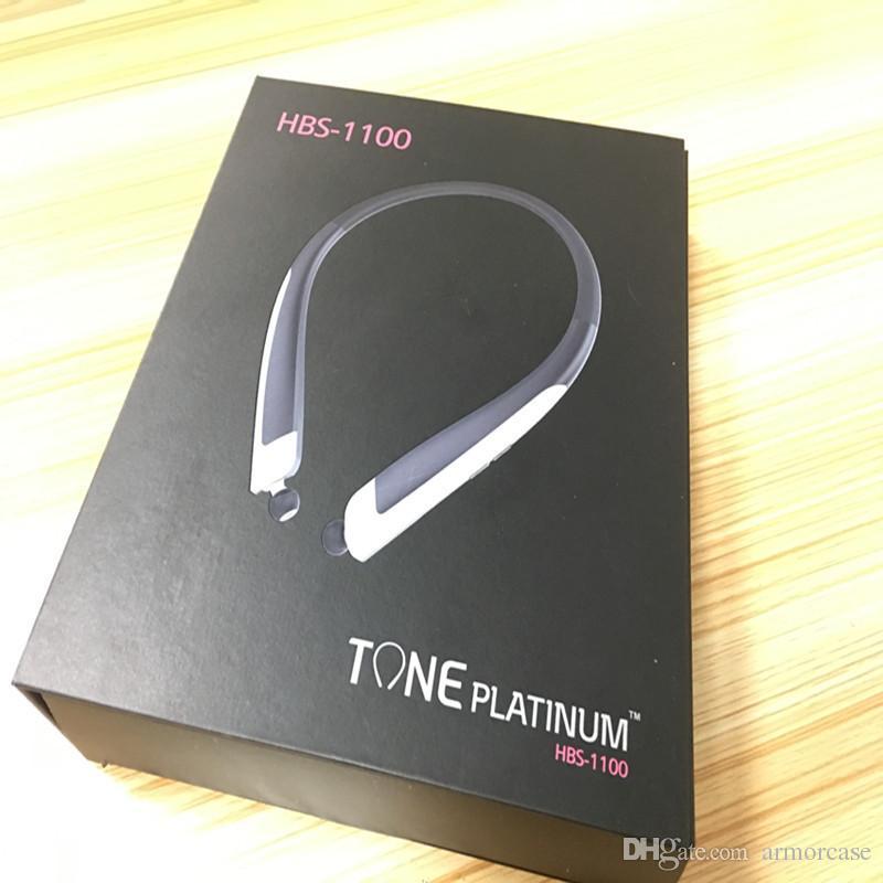 HBS 1100 auricular bluetooth inalámbrico Tone HBS1100 Auriculares estéreo CSR auricular auriculares deportivos auriculares sin manos para el iphone 7 8 s8 más caliente