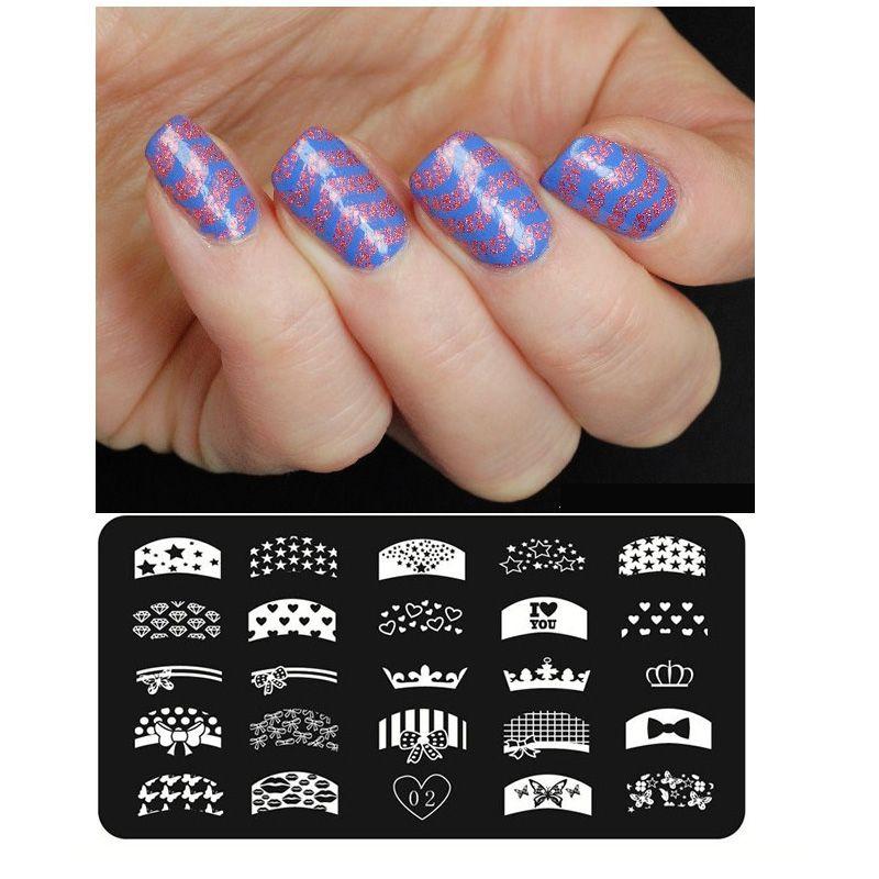 Wholesale 24 Pattern Desin Stainless Steel Nail Art Stamping Stamp ...