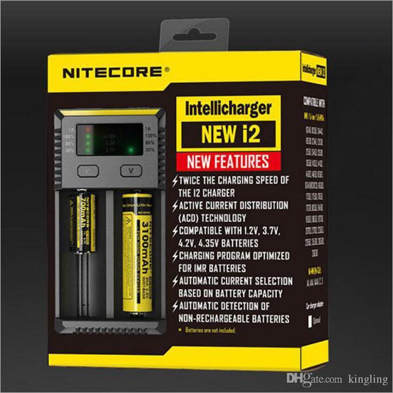 기존 Nitecore 새로운 I2 Nitecore 새로운 I4 배터리 충전기 LED 디스플레이 충전 : 10340 10350, 10440 10500 12340 12500 12650 16650