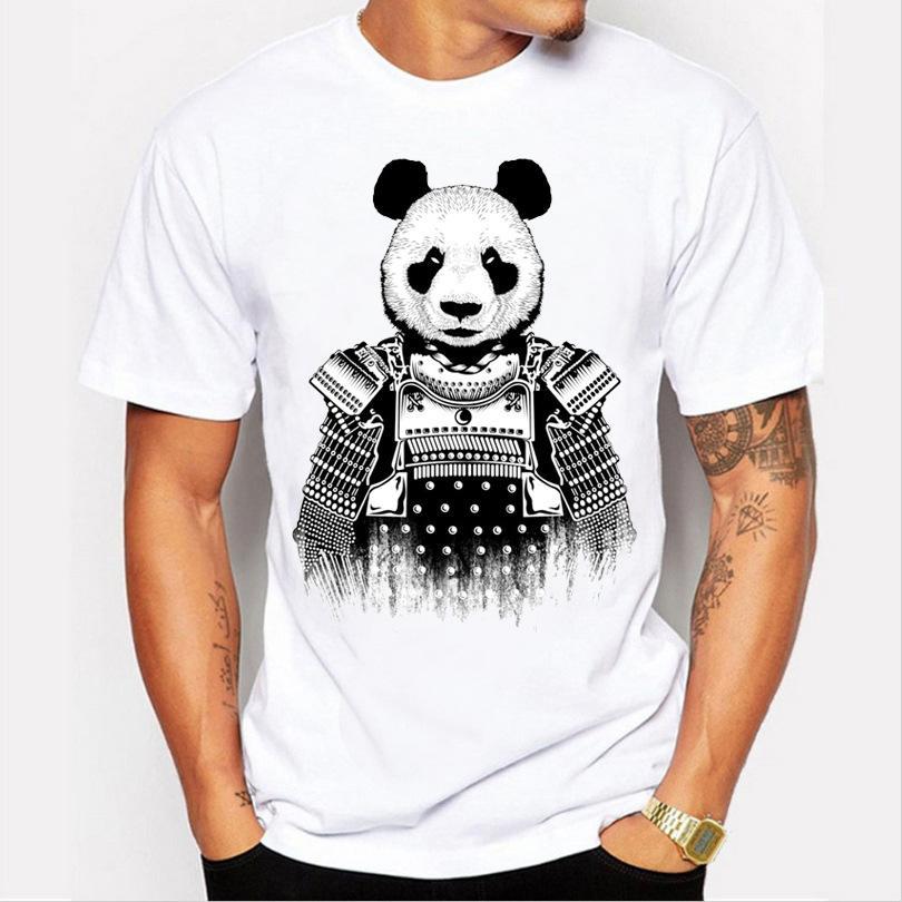 fa06416e79 Compre Armadura Panda Blanco Fresco Hombres Camiseta Poliéster Recto O  Cuello Casual Camiseta Hombre Manga Corta Simple Tops Todo Coincide Verano  A  3.05 ...