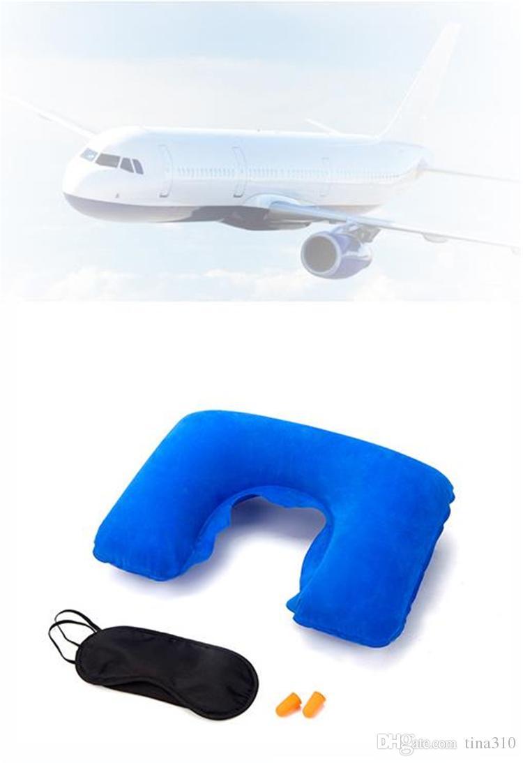 وسادة ذات شكل U قابلة للنفخ لطائرة السفر ... ... وسائد وسادة الرقبة القابلة للنفخ ... ... وسائد وسادة النوم وسادة الهواء IC518